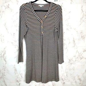 AMERICAN EAGLE Striped Long Sleeve Mini Dress XL